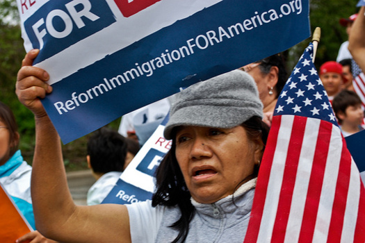 PHOTO: As immigration reform hits the Senate floor in Washington, D.C., polling finds a majority in America want the system fixed, including a path to citizenship for people already in the U.S. CREDIT: Sasha Y. Kimel