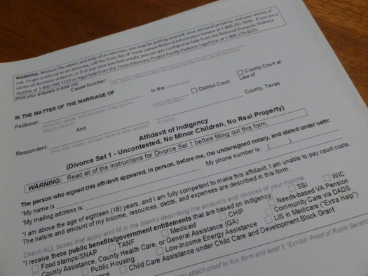 Diy texas divorces are revised to offer more flexibility public photo last fall the texas supreme court approved simple legal forms to be used for solutioingenieria Choice Image
