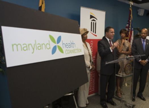 PHOTO: Officials, including the Lt. Governor, are promoting the state's new insurance marketplace: Maryland Health Connection. Photo credit: Executive Office of the Governor