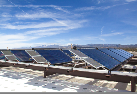 PHOTO: Solar panels at Santa Fe Community College Trades and Advanced Technology Center.Courtesy: Santa Fe Community College.