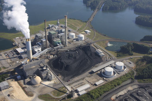 Photo: Duke Energy's Coal fired power plant in Asheville. Courtesy: WNCA