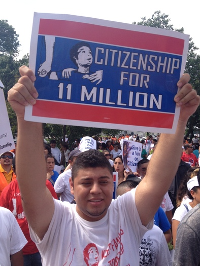 Photo: University of Maryland student Ricky Campos rallied with thousands of other immigration reform activists at the U.S. Capitol Wednesday.