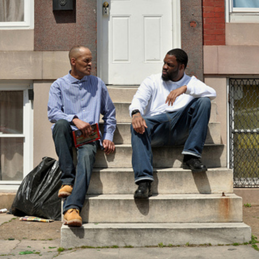 PHOTO: Michael Perry and Russell Green are former inmates, now they work as mentors with the Friend of a Friend program. Photo Credit: AFSC/Bryan Vana