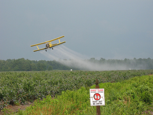 PHOTO: A lawsuit filed against the Environmental Protection Agency seeks to force the EPA to reevaluate the potential harms of pesticide drift exposure and then take action accordingly. CREDIT: Magarell