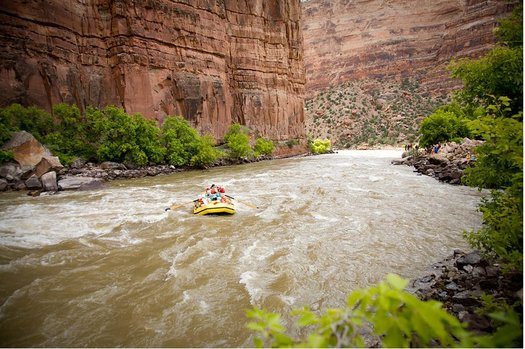"""PHOTO: Many Californians may not be aware their drinking water comes from the Colorado River. The second annual """"Colorado River Day"""" was held Thursday to celebrate the river and send a message that demand on the river's water far exceeds its supply. Photo credit: OARS"""