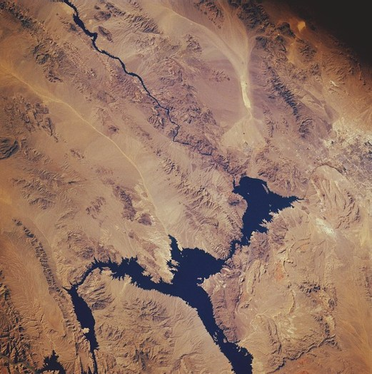 PHOTO: Communities in Nevada and the Southwest are taking time out this week to recognize the role of the Colorado River. In addition to being the primary source of drinking water for much of the Silver State, the river also feeds Lake Mead, which provides nearly $3 billion each year for the state�s recreation economy. Photo credit: NASA