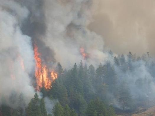 PHOTO: The Colockum Tarps fire has burned 70,000 acres near Wenatchee. This aerial photo was taken on Wednesday by WA Interagency Fire Mgmt. Team 4.