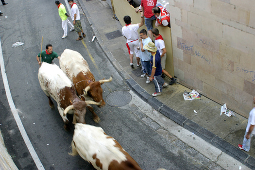 "PHOTO: Some Americans will soon have a chance to ""run with the bulls"" without going to Spain, but plans for the ten U.S. events have upset some people who see them as animal abuse. Photo credit: www.viajar24h.com"