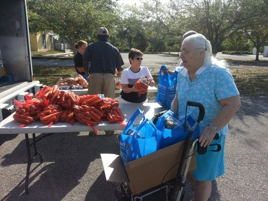 Photo: Thousands of Floridians count on Florida Foodbanks. Courtesy: Florida Association of Food Banks.