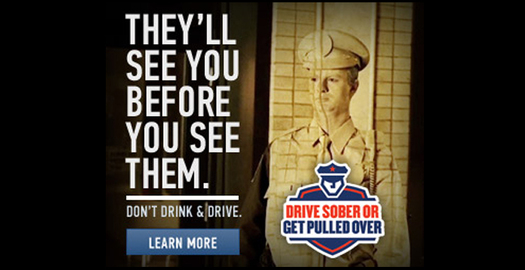 PHOTO: Mothers Against Drunk Driving says high-visibility law enforcement campaigns are a proven deterrent against drunk driving. The 'Drive Sober or Get Pulled Over' campaign runs through Labor Day Weekend. Photo credit: MADD