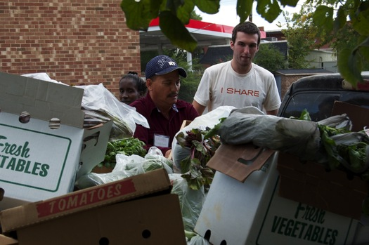 PHOTO: Farmer Foodshare helps collect fresh produce for people in need, to supplement what its research says isn't always the most nutritious donated food at pantries. Courtesy of Farmer Foodshare