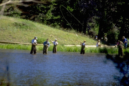 PHOTO: Oregonians love to fish, and many share the concerns about climate change and its effects on freshwater fish detailed in a new National Wildlife Federation report. Photo courtesy Nat'l. Park Service.