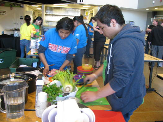 "PHOTO: Yakima Valley teens use their nutritional knowledge and cooking skills to create healthy recipes in ""Teen Battle Chef"" competitions. Courtesy 21st Century Schools."