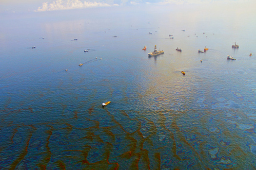 PHOTO: Day 30 of Deepwater Horizon oil spill in the Gulf of Mexico, 2010. CREDIT: Green Fire Productions