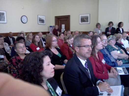 PHOTO: After months of work, individuals and advocacy groups have presented a bundle of ideas to lawmakers on how to deal with child poverty in West Virginia. Photo credit: Dan Heyman.