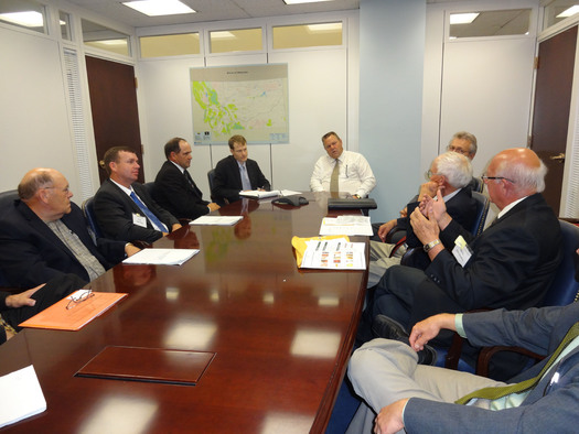 PHOTO: Members of Montana Farmers Union met with U.S. Sen. Jon Tester, D-Mont., last month to discuss agricultural priorities. Photo credit: Deborah C. Smith