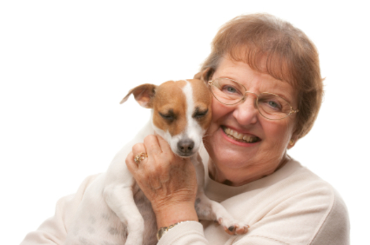 Photo: Pets can help seniors confront illness, depression and loneliness. Courtesy: AARP CO