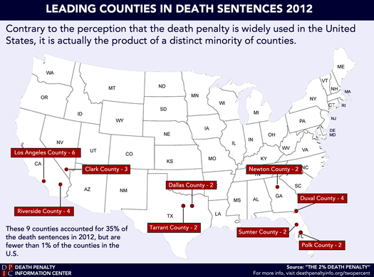 Photo: Florida leads country in the number of death sentences handed down, according to a new report. Courtesy Death Penalty Information Center.