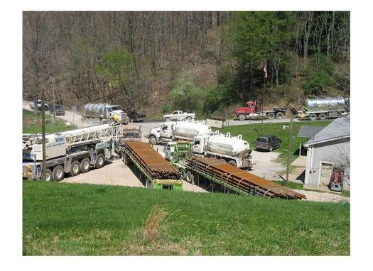 PHOTO: A report to state lawmakers says West Virginia's Marcellus wells use huge amounts of fresh water and leave enormous quantities of fracking chemicals underground. Courtesy of the Sierra Club.