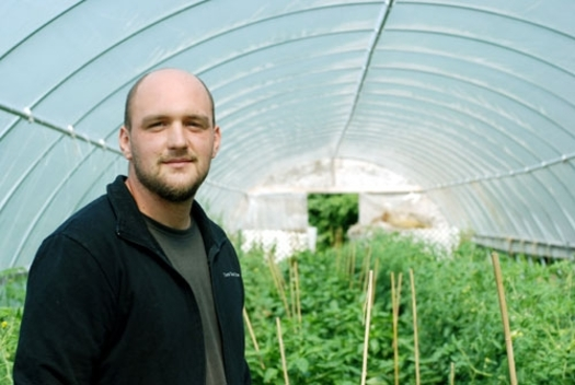PHOTO: Vegetable grower Tim Huth says proposed new rules for food safety won't really do much to increase food safety, and could put small farmers like him out of business. Photo credit: Liz Setterfield, Third Coast Daily.