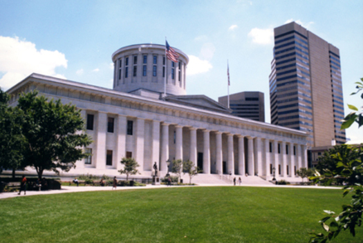 PHOTO: State leaders in Ohio today will hear more about two pieces of legislation aimed at reducing gun violence. Photo: Ohio Statehouse. Courtesy: Ohio Statehouse.