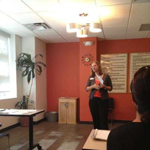 Photo: Mindy Barton, Legal Director at the GLBT Community Center of Colorado leads a legal workshop. Courtesy: GLBT Community Center of Colorado