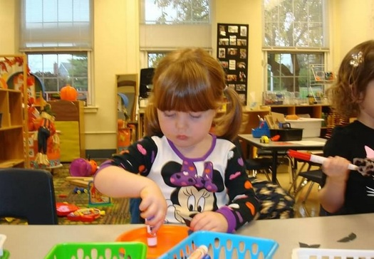 PHOTO: A new report from the Annie E. Casey Foundation sounds the alarm that better supports and investments are needed during a child�s first eight years to ensure their success later in life. Photo available: child in preschool class. Credit: M. Kuhlman.