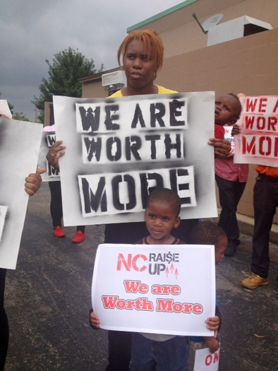PHOTO: Jeanette Lynn of Durham says it is hard to raise her three sons on the wages she earns as a fast-food restaurant employee. Photo courtesy of Lynn.