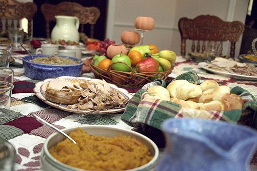 PHOTO: Thanksgiving dinner with all the trimmings may have to be trimmed back this November, as automatic cuts in SNAP, or food stamp, benefits are beginning to affect thousands of Commonwealth residents. Photo by Ben Franske, Wikimedia Commons.