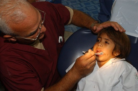 PHOTO: A new tele-health pilot project launched in Los Angeles today brings dental care to underserved children. The Virtual Dental Home system will benefit low-income children enrolled in L.A. County�s Head Start Programs. Courtesy U.S. Defense Dept.