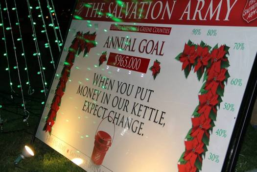 PHOTO: The Salvation Army Serving Christian and Greene Counties is among the many charities kicking off annual holiday giving campaigns in the hopes of raising funds to support their mission through 2014. Photo courtesy of the Salvation Army.
