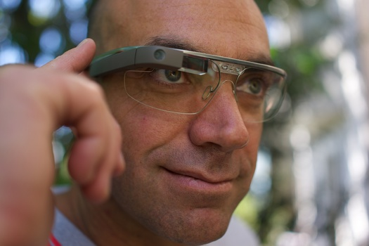 PHOTO: Google Glass, although not yet available to the general public, joins smart watches, wrist phones and all kinds of wearable cell phones and digital devices as hot consumer products for this holiday season – but scientists have health concerns about them. Photo credit: Wikipedia.org.