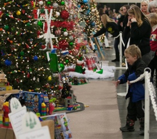 "PHOTO: The ""2013 Festival of Trees,"" benefiting the nonprofit Primary Children's Hospital, is again under way at the South Towne Expo Center in Sandy. Photo credit: Festival of Trees."