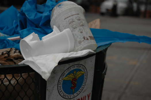 Photo: Bans are being considered on plastic and Styrofoam containers in New York City and Albany. Photo Credit: Mike Clifford