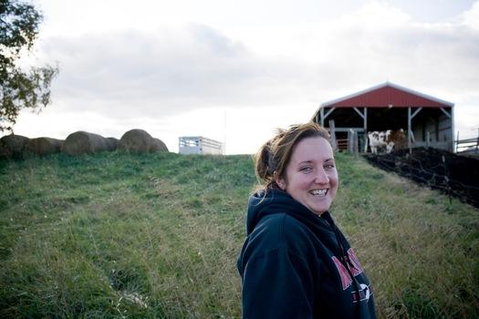 Photo: Bridges on her Shelby dairy farm. Courtesy: RAFI USA