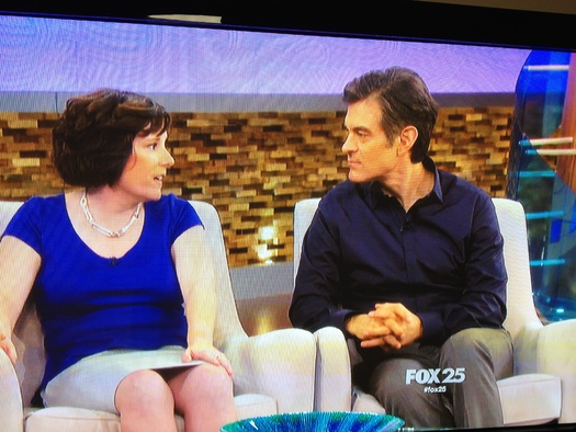 Photo: NH family caregiver sharing her experience with Dr. Oz. Ten tips for avoiding holiday burnout are available at the AARP website (aarp.org). Photo courtesy Fox 25