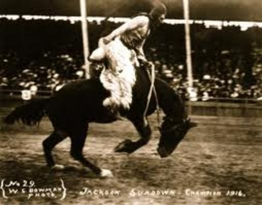 PHOTO: The saddle of famous Nez Perce cowboy Jackson Sundown in his 1916 Pendleton Roundup win is part of Oregon's rich western heritage. It's still on display and in mint condition, and a new Oregon Heritage Plan aims to ensure other rare artifacts also are preserved. Photo by W.S. Bowman, 1916.