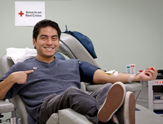 PHOTO: Starting Jan. 1, there's extra incentive for people to donate a lifesaving gift. In January, the American Red Cross teams up with Dunkin' Donuts to give a voucher good for a pound of coffee, to those who donate a pint of blood. Photo courtesy American Red Cross.