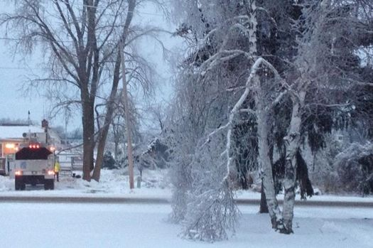 PHOTO: Utility crews have worked around the clock to restore power to the nearly 600,000 Michiganders impacted by last week's ice storms, but much work lies ahead for home and business owners. Photo courtesy of Mona Shand