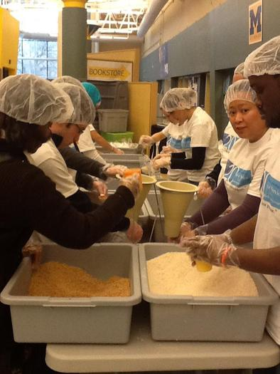 PHOTO: For the 21st year, students, staff and alumni from the University of Michigan-Dearborn will celebrate MLK Day by donating their time to service projects around metro Detroit. Photo courtesy U of M-Dearborn.