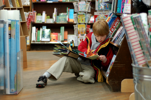 PHOTO: According to a new report, two-thirds of Maine�s fourth-graders are not reading proficiently, and more than three-quarters of their low-income classmates are also struggling with the printed word. Photo credit: Tim Pierce, Wikimedia Commons.