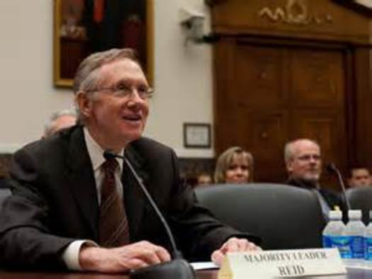 PHOTO: Senate Majority Leader Harry Reid is opposing President Obama, who wants to fast-track the Trans-Pacific Partnership trade agreement. Photo courtesy U.S. Sen. Harry Reid.