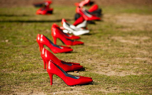 "PHOTO: One effort that continues to grow nationwide to raise awareness and get men more involved in sexual assault prevention is called ""Walk a Mile in Her Shoes."" Photo credit: Tulane Public Relations"
