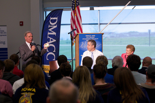 PHOTO: U.S. Education Secretary Arne Duncan visited Des Moines Area Community College in 2012 for a town hall on increasing graduation rates. Photo credit: U.S. Dept. of Education