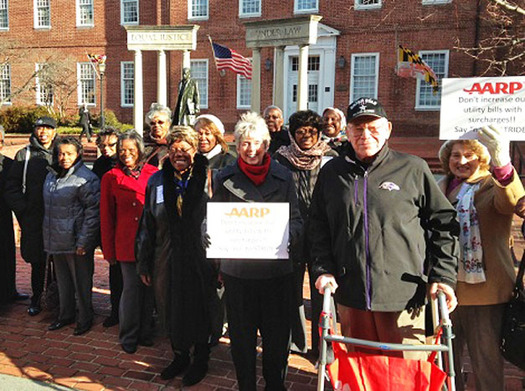 PHOTO: About 80 Marylanders in the 50-plus set are in Annapolis today to meet with legislators and watch the action in the House and Senate. Photo courtesy of AARP Maryland.
