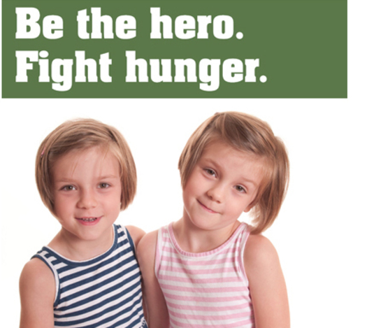 PHOTO: Twin sisters Piper and Violet collected 66 bags of groceries when in kindergarten last year as part of the March Campaign. Photo courtesy: Minnesota FoodShare