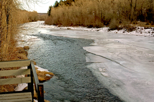 PHOTO: The Dolores River drains a 4,500 square-mile area in southwest Colorado, where snowpacks are about 90 percent of normal. Basins in other parts of the state are as much as 140 percent of average. Credit: Mark Duggan.