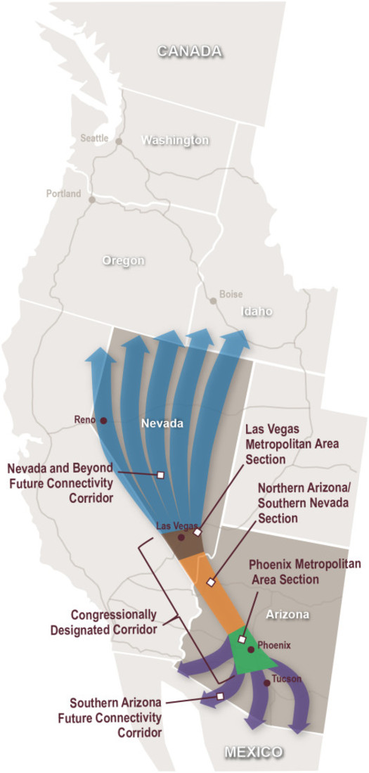 PHOTO: Governor Brian Sandoval says Nevadans may judge future presidential candidates may be judged by their support for building an Interstate Highway between Las Vegas and Phoenix. Photo courtesy of the Nevada Department of Transportation.