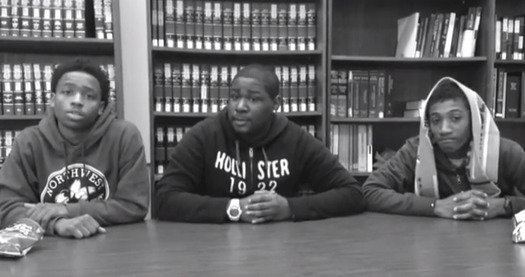 PHOTO: Students from Northwest Academy of Law High School in St. Louis produced a video for the American Friends Service Committee's annual contest in which they explain their vision for federal budget priorities. Image courtesy of AFSC.