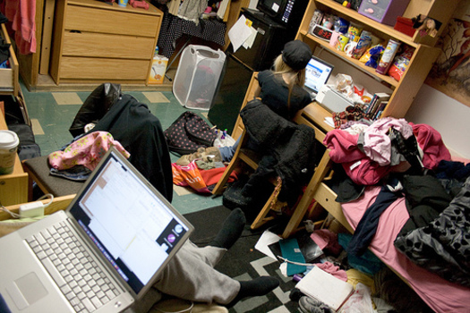 """PHOTO: """"Amelia the Clutter Queen"""" says kids' rooms, office spaces and kitchens are often the most clutter filled. Photo credit: David Brown"""
